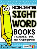 Highlighter Sight Words: Set One for preschool, prek, and kindergarten