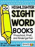 Highlighter Sight Words: Set One for preschool, prek, and