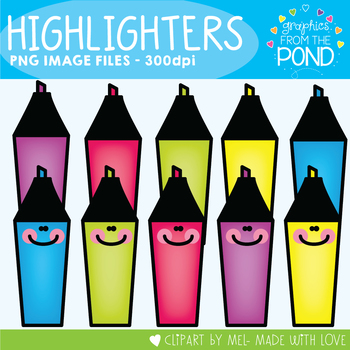 Highlighters - Clipart fun for the classroom and resources!