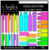 Highlighters Clipart {A Hughes Design}