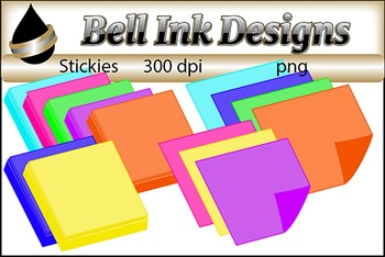Highlighters, Paperclips, and Stickies Clipart