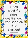 Highlighting 2D Shape Attributes (sides,angles, vertices)