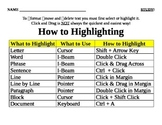 Highlighting Text Study Guide and Quiz