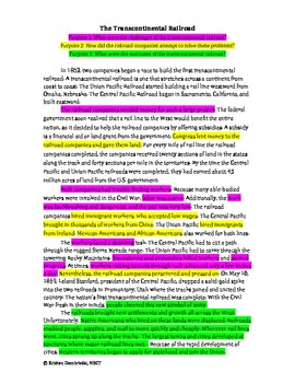 Highlighting and Reading for a Purpose: Cross-curricular, Improve Comprehension