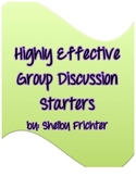 Highly Effective Group Discussion Starters