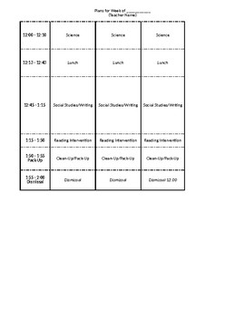 Highly Effective Lesson Plan Template