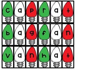 Holiday Lights CVC Short Vowel Center