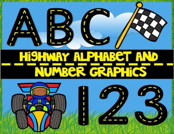 Highway Alphabet and Number Graphics