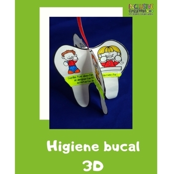 Higiene oral | Integración curricular |Dental care Interactive notebook SPANISH