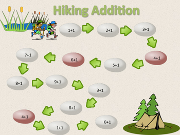 Hiking Addition Game