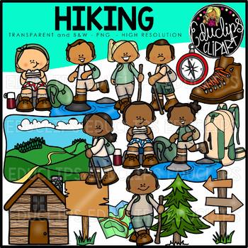Hiking Clip Art Bundle {Educlips Clipart}