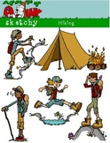 Hiking Clipart / Camping clipart