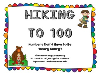 Hiking to 100:  Numbers from 1-100