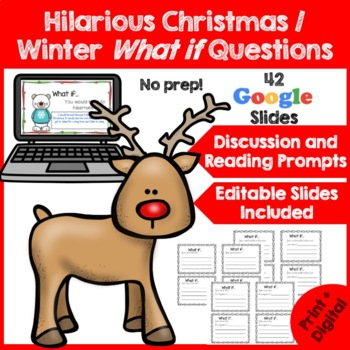 Funny Christmas Writing Prompts- What if? {Christmas Activities}-Dollar Deal