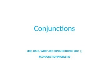 Hilarious Conjunction Explanation PowerPoint Language Stan