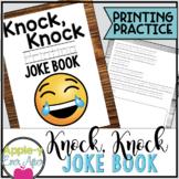 Hilarious Knock Knock PRINTING Practice Joke Book