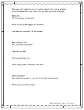 Hilarious Predictions Creative Assignment for Intellectually Gifted