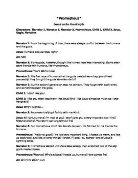 Hilarious Reader's Theaters from Greek Mythology: Prometheus