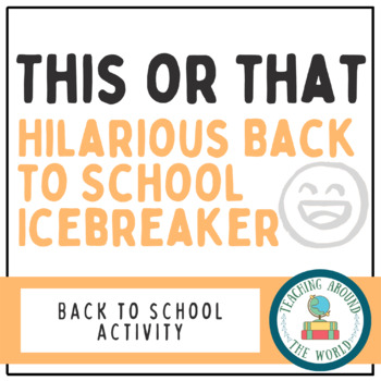Hilarious Back to School Ice Breaker