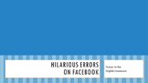 Hilarious errors on Facebook