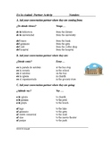En la ciudad: In the City Spanish Partner Activity and Worksheet on Prepositions