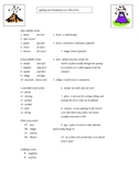 Hill of Fire Spelling and Vocabulary List & Activities (Volcano Unit)