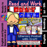 Hillary Clinton Biography - Reading Passages and Craftivity