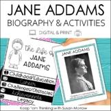 Jane Addams Biography & Reading Response Activities | Digi