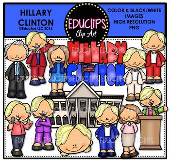 Hillary Clinton Clip Art Bundle {Educlips Clipart}