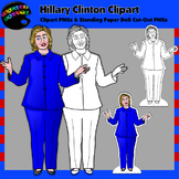 Hillary Clinton Clipart and Paper Dolls