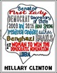 Hillary Clinton Coloring Page and Word Cloud Activity {FREE!}