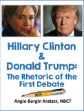 Hillary Clinton & Donald Trump: The Rhetoric of the First Debate