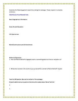 Maria Tallchief Internet Research Guide