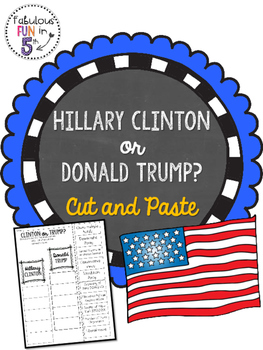 Hillary Clinton or Donald Trump? Cut and Paste Sorting Activity