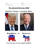 Donald Trump vs. Joe Biden: 2020 Presidential Election Project