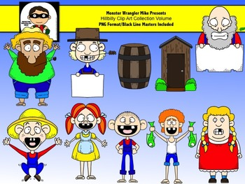 Hillbilly Clip Art Collection