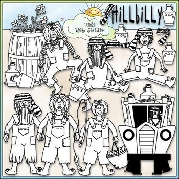 Hillbilly Family Clip Art - Hillbilly Clip Art - Redneck - CU Clip Art & B&W