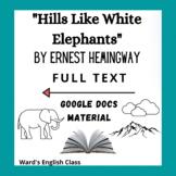 Hills Like White Elephants - Ernest Hemingway - FULL TEXT