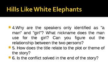 Hills Like White Elephants by Hemingway Powerpoint/Edward Hopper