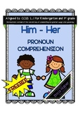 Him and Her Pronoun Comprehension Freebie