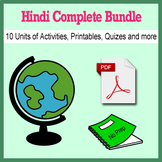 Hindi Bundle for Smart Teachers: 10 beginner units & ☆147+☆ NO PREP printables