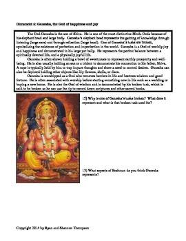 Hindu DBQ Bundle - Deities and Paths of Salvation - Common Core