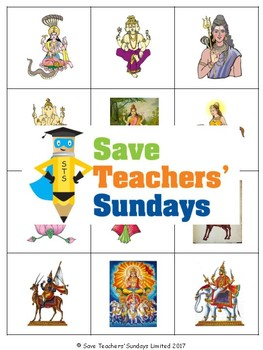 Hindu Gods and Goddesses Lesson plan, PowerPoint, Games an