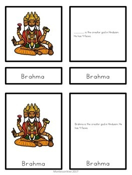 Hinduism 5 part cards