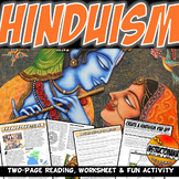 Hinduism Ancient India Lesson Plan Writing, Literacy, & Fun Extension Activity