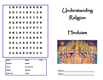 Religion: Hinduism Booklet