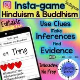 Hinduism & Buddhism Activity-Instagram (Editable Insta-game)