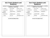 Hinduism/ Buddhism Exit Ticket