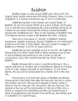 Hinduism & Buddhism Passages