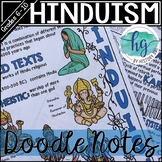 Hinduism Doodle Notes and Digital Guided Notes